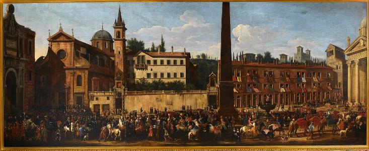 wjazd Radziwiłła do Rzymu 1680
