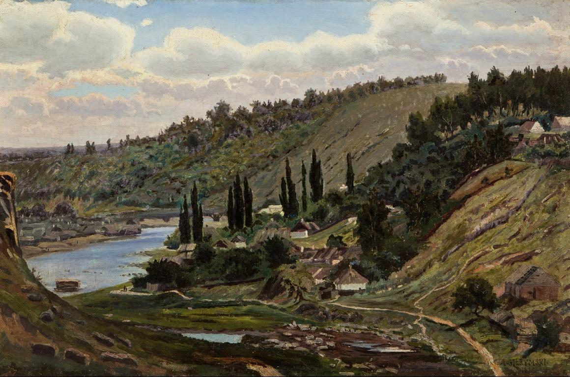 AleksandWidok znad jeziora Ossiach w Karyntii 1886.jpg