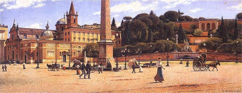 Aleksander Gierymski, Piazza_del_Popolo