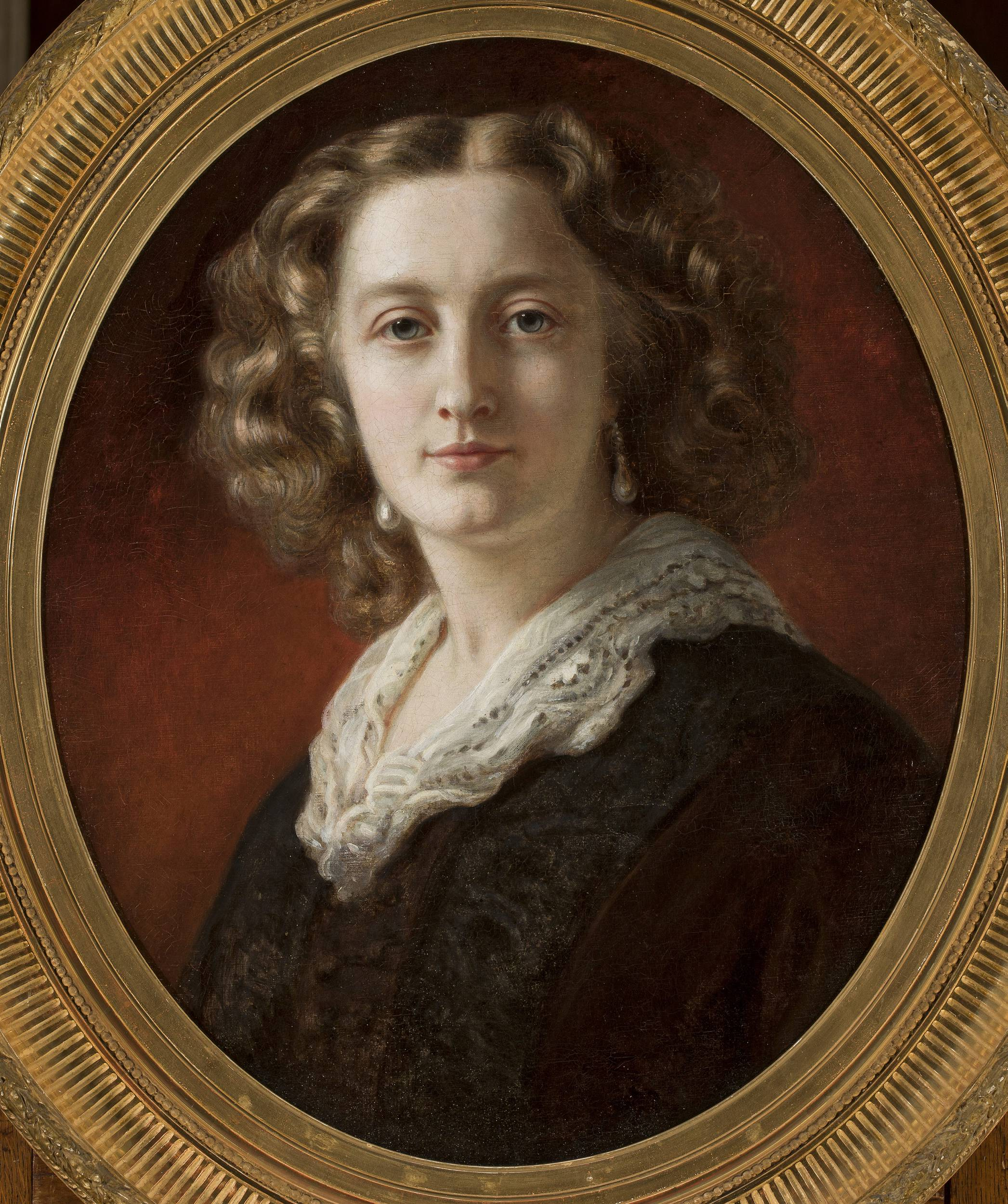 128902; Winterhalter, Franz Xaver (1805-1875) (malarz); Portret Zofii z Branickich Odescalchi; olej; płótno; 61 x 50